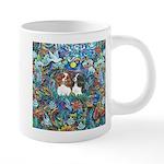 Garden Dove-2 Cavaliers 20 oz Ceramic Mega Mug