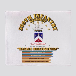 369th Infantry Regt Throw Blanket
