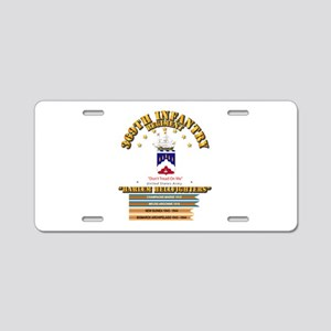 369th Infantry Regt Aluminum License Plate