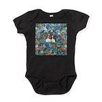 Garden Dove-2 Cavaliers Baby Bodysuit