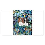 Garden Dove-2 Cavaliers Sticker (Rectangle 50 pk)