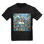 Garden Dove-2 Cavaliers Kids Dark T-Shirt