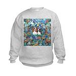 Garden Dove-2 Cavaliers Kids Sweatshirt