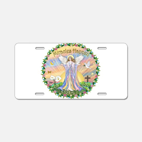 Funny Christian butterfly Aluminum License Plate