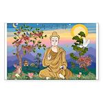 TILE-Buddah1-wordssayinnerpeace Sticker (Recta