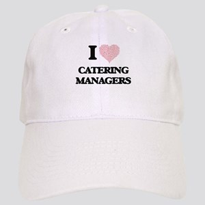 I love Catering Managers (Heart made from word Cap