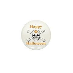 Masons Halloween Skull Mini Button (10 pack)