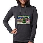 Remember-Christmas Sunrise Womens Hooded Shirt