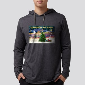 Remember-Christmas Sunrise Mens Hooded Shirt