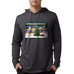 Remember-Christmas Sunrise Mens Hooded Shirt
