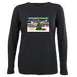 Remember-Christmas Sunrise Plus Size Long Slee