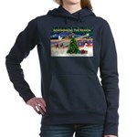 Remember-Christmas Sunrise Women's Hooded Swea