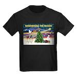 Remember-Christmas Sunrise Kids Dark T-Shirt
