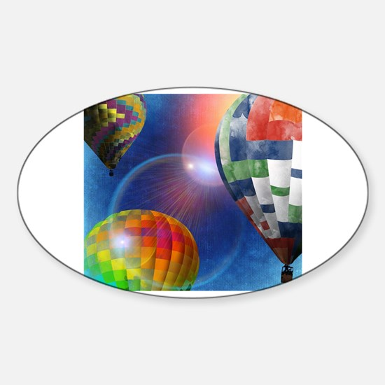 Unique Hot air Sticker (Oval)