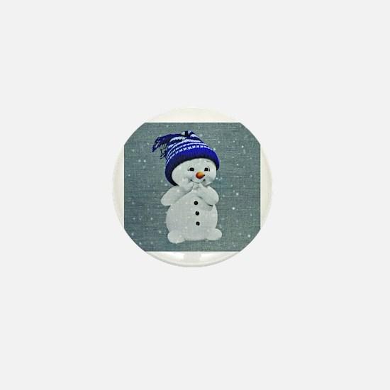 Cute Snowman Mini Button