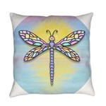 Dragonfly1B-pastel Everyday Pillow
