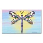 Dragonfly1B-pastel Sticker (Rectangle 50 pk)