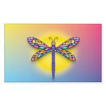 Dragonfly1 - Sun Sticker (Rectangle 50 pk)