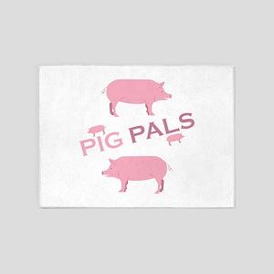Pig Pals 5'x7'Area Rug