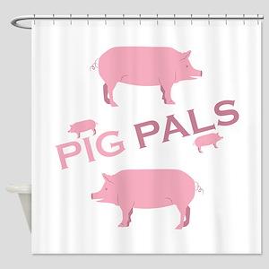 Pig Pals Shower Curtain