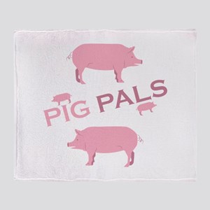 Pig Pals Throw Blanket