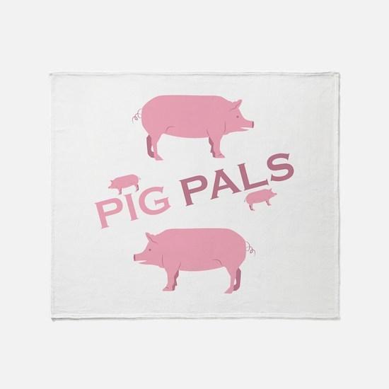 Pig Pals Throw Blanket