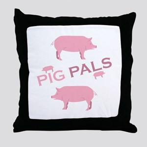 Pig Pals Throw Pillow