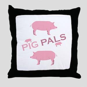 Pig Pals Throw Pillow