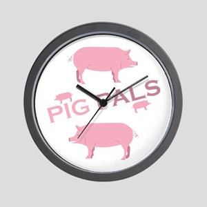 Pig Pals Wall Clock