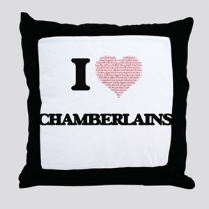 I love Chamberlains (Heart made from Throw Pillow
