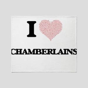 I love Chamberlains (Heart made from Throw Blanket