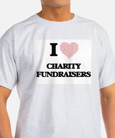 I love Charity Fundraisers (Heart made fro T-Shirt
