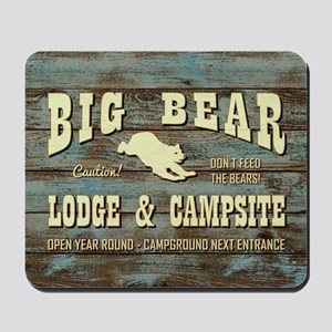 BIG BEAR LODGE Mousepad