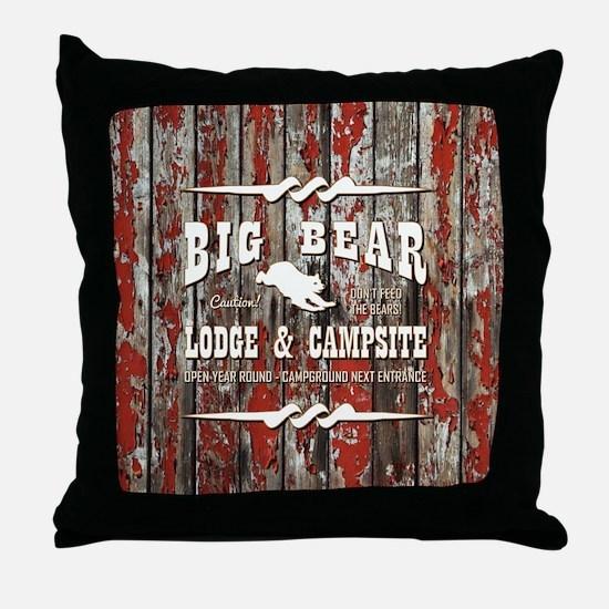 BIG BEAR LODGE Throw Pillow