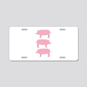 Pigs Aluminum License Plate