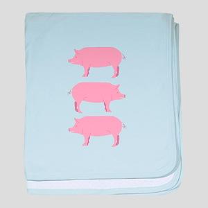Pigs baby blanket