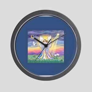 Night Angel 1 Wall Clock