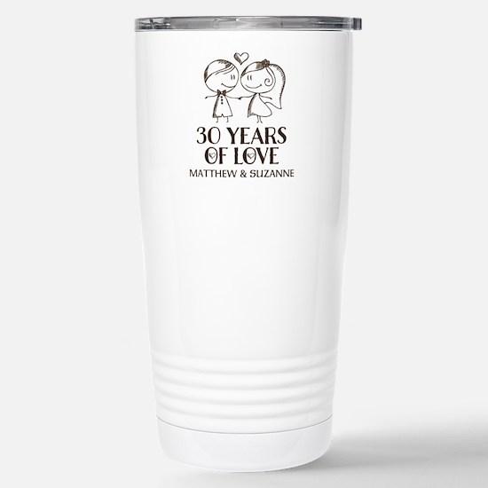 30th Wedding Anniversary Personalized Mugs