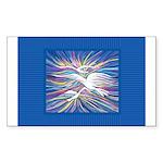 Three Doves Sticker (Rectangle 50 pk)
