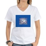 Three Doves Women's V-Neck T-Shirt
