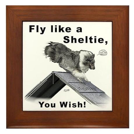 Shelties Fly- Agility Framed Tile