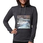 PILLOW-ESB-Winterscene Womens Hooded Shirt