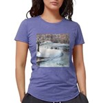 PILLOW-ESB-Winterscene Womens Tri-blend T-Shir