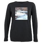 PILLOW-ESB-Winterscene Plus Size Long Sleeve T