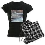 PILLOW-ESB-Winterscene Women's Dark Pajamas