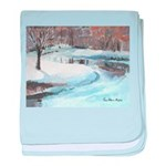 PILLOW-ESB-Winterscene baby blanket