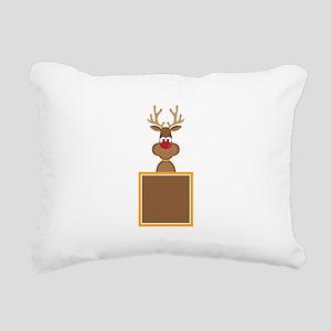 Rudolph Reindeer Rectangular Canvas Pillow