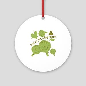 A Big Heart Round Ornament