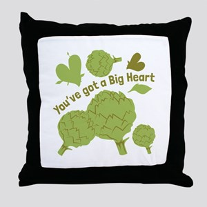 A Big Heart Throw Pillow