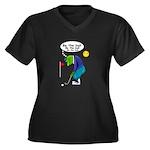 Be the ball (#2) Women's Plus Size V-Neck Dark T-S